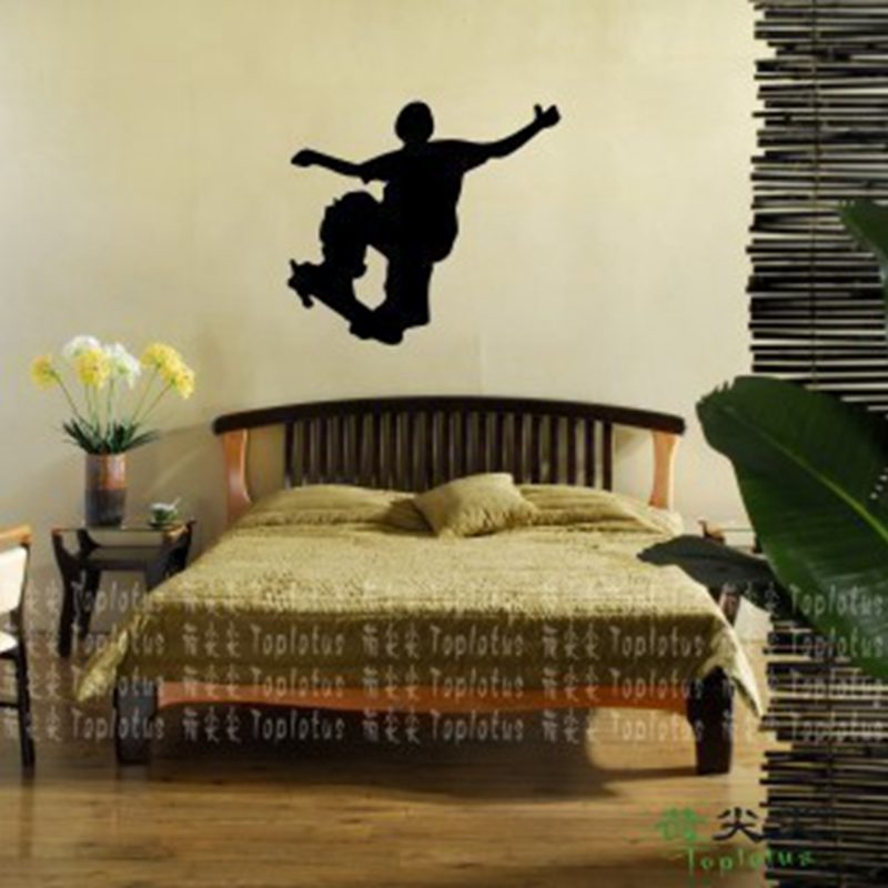 Sliding Plate Roller Skating Skate Sticker Sports Decal Kids Room Name Posters Vinyl Wall Decals Sticker