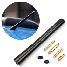 Screw In Type Automobile Antenna for AM/FM radio Aluminum Carbon Fiber Car antenna Auto replacement Accessories