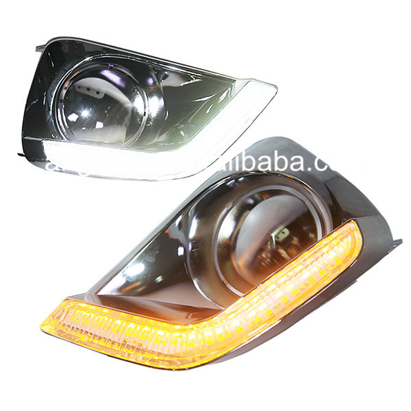 For TOYOTA for VIOS LED DRL Daytime Running Light 2014 Year Chrome Housing<br><br>Aliexpress