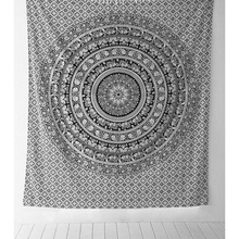 210*148 cm Mandala Towel Bedspread Shawl Indian Tapestry Black White Elephant Bohemian Tapestry Wall Hanging Table Cloths 879787