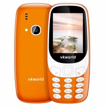 Original VKWorld Z3310 Elder Mobile Phone 2.4 inch 3D Screen Dual SIM Card Big Speaker 2.0MP FM LED Light 1450mAh Mini Cellphone(China)