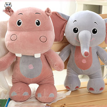 BOLAFYNIA Gajah Kuda Nil Bayi Mainan Mewah Mainan untuk Anak-anak Ulang  Tahun Hadiah Natal Mewah Boneka Mainan 40 cm 5f34bed131