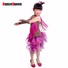 2017 New Arrival Girl Latin Dance Dresses For Sale Ballroom Dance Dresses Kids Tango Dancewear Dresses Samba Fitness DQ4025(China)