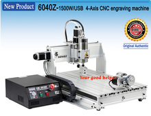 From USA warehouse New product!!! 4-Axis 6040Z 1500W USB Mahc3 CNC Router Engraver engraving Milling machine 220VAC