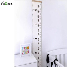 Pawaca Wall Hanging Growth Chart Height Measurement Rulers For Kids Wall Stickers Wall Decal for Kids Children Room Home Decor(China)