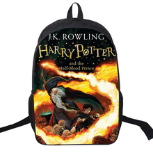 Preppy Style Hot Movie Designer Bag Harry Potter Backpack Satchels Cool Printing Nylon Backpack Casual School Book Bag For Teens(China)