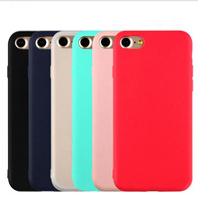 High quality Lovely Candy Color Soft TPU Phone Case for iphone 7 7Plus 6 6s Plus 5 5s SE Cute Rubber Back Cover Silicone Shell