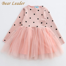 Bear Leader Girls Dress Princess Dress 2017 Brand Girls Dress Children Clothing Ball Gown Dot Print Kids Clothes Girls Dresses(China)