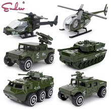 Endev 6pcs 1:87 alloy Alloy metal car Baby Diecasts Toy Vehicles model boys fire truck military Policy car toys for children(China)
