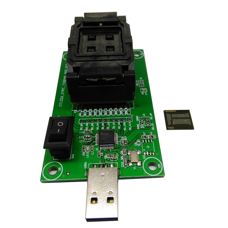 High Quality eMCP221 Socket to USB, for BGA 221 testing, size 11.5x13mm, nand flash programmer, Clamshell Test Socket Wholesale<br><br>Aliexpress