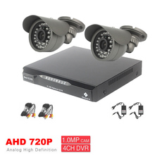 high quality digital 4Channel H.264 HD 720P AHD Cameras Kit Home CCTV Video Surveillance Cameras System Day and night monitoring