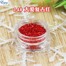 Free Shipping Normal Series Red glitter powder phosphor powder for DIY nail art, 500g/bag,Nail Flash pigment