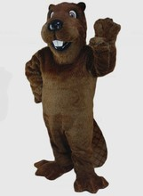 Forest Animal Mascot Barney Beaver Mascot Costume Adult Size Cartoon Character Carnival Party Outfit Suit Fancy Dress(China)