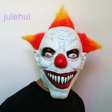 Killer Clown Mask Adult Mens Latex Halloween Prank Pennywise Evil Scary Fancy Dress(China)