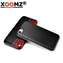 Luxury Brand wallet PU Leather+Silicon Cases Cover For iPhone 7 Carbon Fiber Stylish Folio case Flip mobile phone accessories