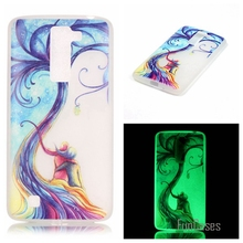 New Luminous night Slim phone Cases for LG K7 X210 MS330/Tribute 5 LS675/M1 Fluorescence Soft TPU Silicon Gel back cover skin