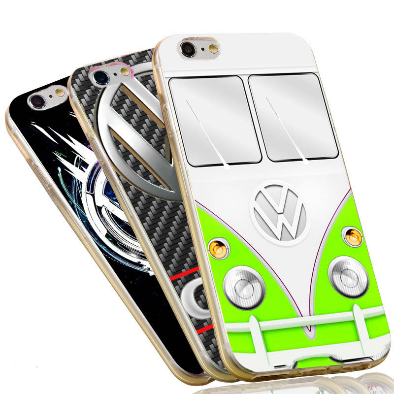 Multicolor VW Case Soft TPU Silicone Anti-knock Mobile Phone Cover for iPhone 7 6 6S Plus 5 SE 5S Volkswagen Case(China (Mainland))