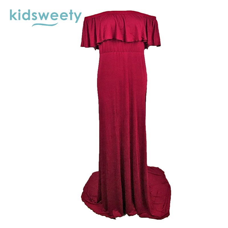 ba5a63b8ee Plus Size Summer Ladies Maternity Dresses For Photo Shooting Prop Elegant Pregnant  Maxi Dress Women Maternity Maxi Party Dress