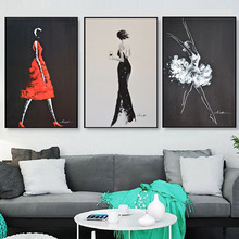 HAOCHU Industrial Wind Black And White Character Decoration Painting Modern Simple Living Room Nordic Art Bedroom Bedside Murals(China)