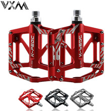 VXM Bicycle Pedal Aluminum Alloy Mountain Bike Pedal MTB Road Cycling Sealed 3 Bearings Pedals for BMX Ultra-Light Bicycle Parts(China)