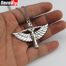 "2015 New Women Jewelry Fashion Hand Made Silver Angle Wing Girl Pendant 26"" Necklace Girl  DY149 Free Shipping"
