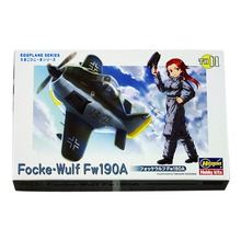 OHS Hasegawa 60121 Q Versin Focke Wulf Fw190A Egg Plane Assembly Airforce Model Building Kits(China)