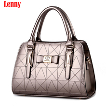 2017 Europe Women Leather Handbags PU Handbag Leather Women Bag Patent Handbag Shoulder Bags Messenger Bag 11 Colors 27(China)