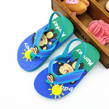 2017 Kids Shoes Summer Slippers Boys Girls Shoes Baby Cartoon Animal Monkey Flip Flpos Boys Girls Sandals(China)