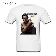 2017 Summer New High End T-shirt Man's Fashion Brand Tees TED Rick Grimes The Walking Dead T Shirt Men Short Sleeve Tee Shirts