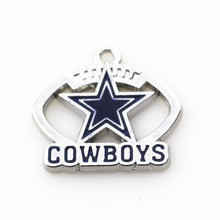 20pcs/lot Dallas Cowboys Football Hanging Dangle Charms Floating Charms For Bracele&bangles Jewelry Accessory(China)
