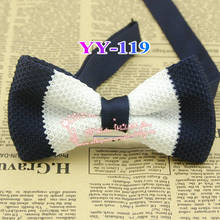 2014 New Arrival Mens Polyester Knitted Adjustable Nave And White Striped Formal Neck Bowtie Men's Bow Tie,male Cheap Butterfly