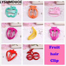 LYSUMDUOE Imitative Hello Kitty Fruit Hair Accessories Boutique Barrette Cherry Banana Hairpin Clip Girl Cute Headband Clip Gift