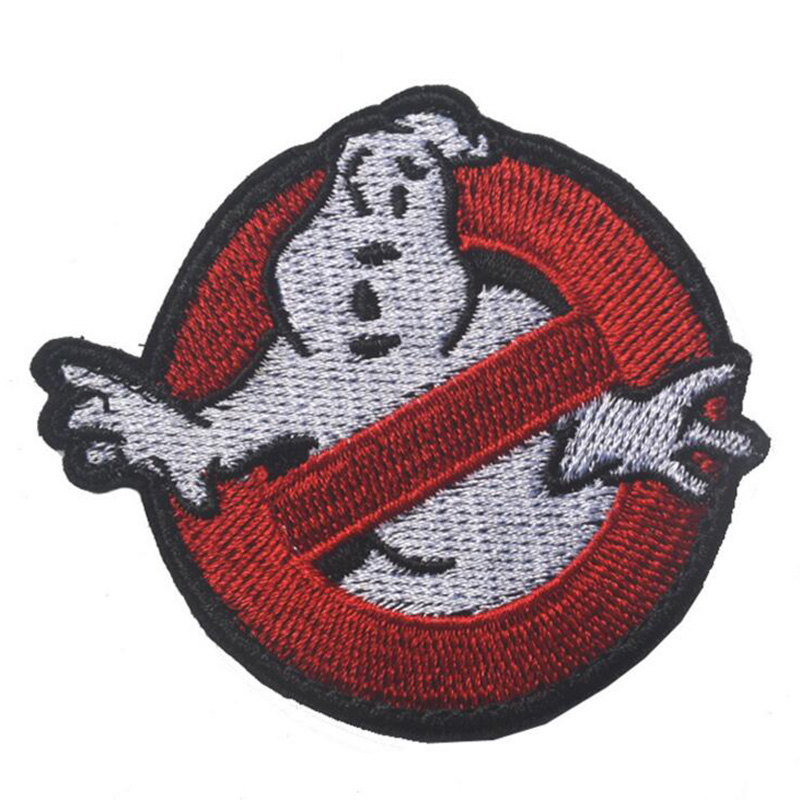 "Ghostbuster Movie NO GHOST Embroidered Uniform Logo Patch Embroidered 2 3/4"" Wide PATCHES Gift Clothing Backpack Armband Patches(China (Mainland))"