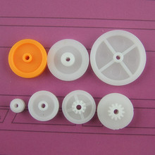 Fine Quality ABS Plastic Pulleys Mixed 7pcs Toy Gears Kit 7 Different Belt Pulley Gears Toy DIY Accessories