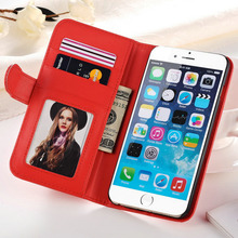 Wallet Style Case For iPhone 6 4.7 Inches PU Leather Flip Phone Bag With 2 Card Slot Photo Frame Stand Design Cover In Stock