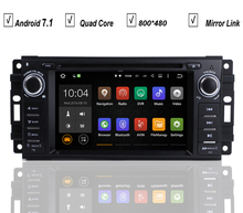 Car DVD GPS Player Android 7.1 For JEEP Wrangler Compass Patriot Grand Cherokee Commander Dodge RAM 2G RAM+16G ROM+16G MAP Wifi