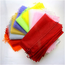 30*40cm 25pcs/ Jewelry Packaging Bags & Pouches Drawable Multi-color Large Organza Bags Favor Wedding Christmas Gift Bag 8zSH321(China)
