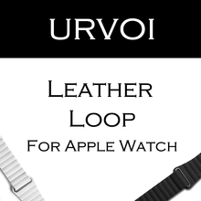 URVOI Leather loop for apple watch series 1 2 band for iwatch comfortable feel soft leather strap with magnet buckle(China)