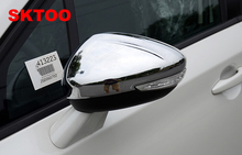 SKTOO Car Stying Fit For Peugeot 301 308 408 508 2008 3008 308S Door Side Wing Mirror Chrome Cover Rear View Cap Accessories