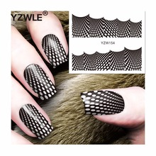 YZWLE 1 Sheet DIY Decals Nails Art Water Transfer Printing Stickers Accessories For Manicure Salon (YZW-154)(China)