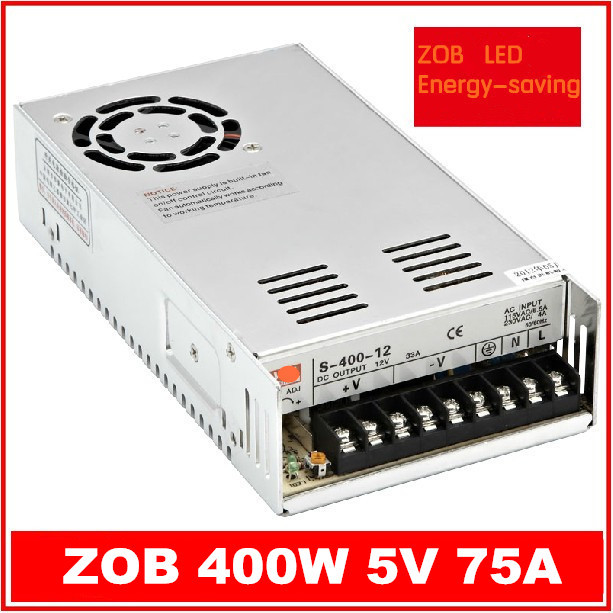 400W S400W-5V-75A  LED Switching Power Supply,5V 75A,85-265AC  input,CE ROSH power suply 36V Output<br>