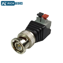 BNC Plug Balun Terminal 50pcs CCTV Camera Passive Video Balun BNC Connector Cat5 CCTV UTP Video BNC Balun(China)