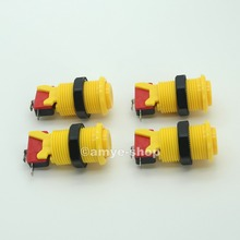 New 4 pcs/Lot Yellow Classic Arcade Push Buttons Happ Button For Arcade FightStick Tournament & Family Professional Machine DIY