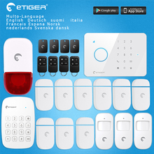 GSM Alarm Auto dial Home Security and Fire Protection Alarm System iOS Android App Sensor(China)