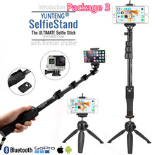 "Remote Shutter Extend Bluetooth ORIGINAL YUNTENG Selfie Stick 50"" Monopod For Samsung S8 Note Plus/For Sony Z3 Z5 XP SLR Camera(China)"