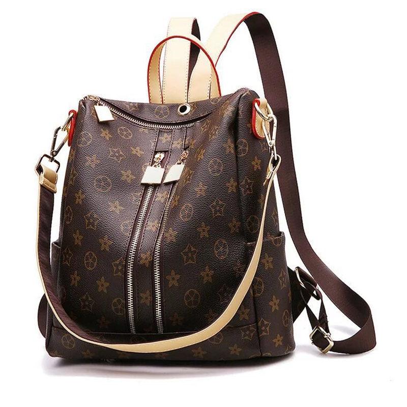 Flyone Women Backpack Female School Shoulder Bag Youth Leather Backpacks for Teenage Girls Bagpack Fashion Design Mochila<br>