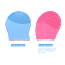Electric Face Cleanser Vibrate Waterproof Silicone Cleansing Brush Massager Facial Vibration Machine Skin Care Spa Massage Q00(China)