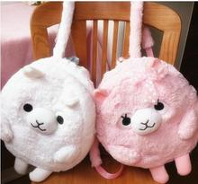 Kawaii Cartoon Fashion Amuse Alpaca Plush Backpack Children's Shoulder Bag Soft Doll Stuffed Toy For Baby Kids Birthday Gifts(China)