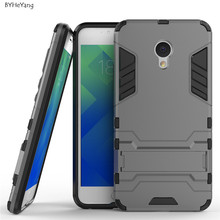 Meizu M5 mini Meilan 5 Case Robot Armor Case Silicone Rubber Hard Back Phone Cover Meizu Meilan M5 mini Case 5.2 inch