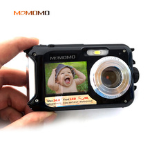 MOMOMO 2.7inch TFT lcd Digital Camera Waterproof 24MP MAX 1080P Double Screen 16x Digital Zoom Camcorder (DC998)#10(China)